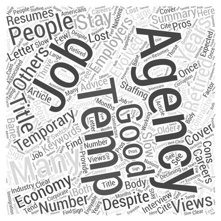 How Temp Agencies Has Evolved Word Cloud Concept Stok Fotoğraf - 73305860