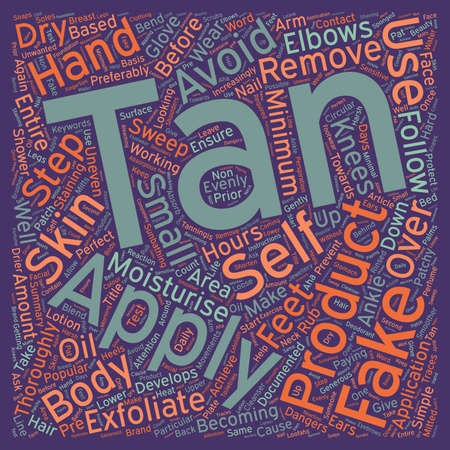 How to Apply Fake Tan text pattern wordcloud concept Ilustrace