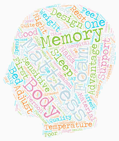 How To Benefit 4 Ways With A Memory Foam Mattress text pattern wordcloud concept