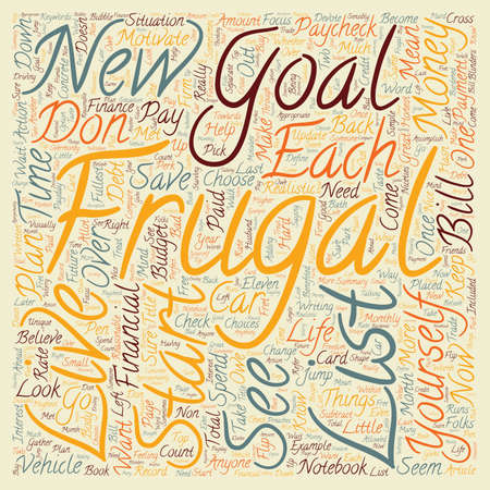 How to Become Motivated to be Frugal text pattern wordcloud concept Imagens - 73307041