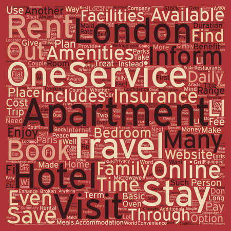 How a Serviced Apartment Can Enhance Your Next London Visit text background wordcloud concept.