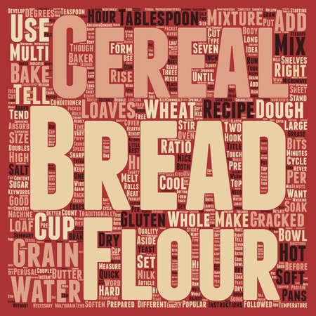 perusal: How To Bake Multi grain Bread text background wordcloud concept