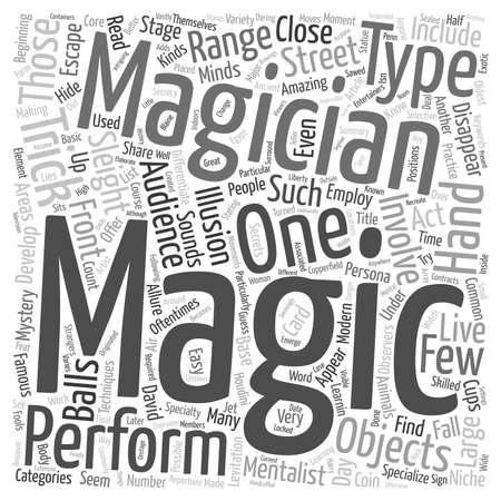 How Did They Do That Types Of Magic Tricks text background wordcloud concept.