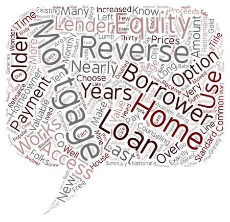 long lived: How A Reverse Mortgage Works text background wordcloud concept