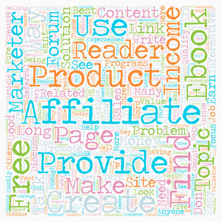 How Free eBooks can Explode your Affiliate Income text background wordcloud concept Stock Illustratie