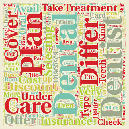 How Dental Plans Differ from Dental Insurance text background wordcloud concept Illustration