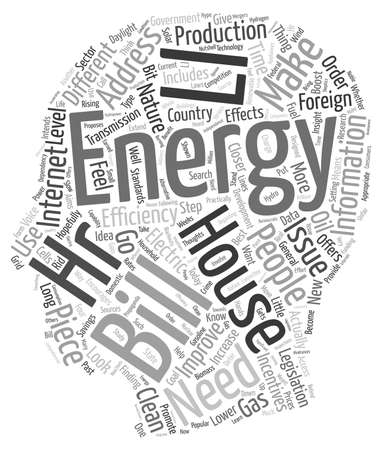 house energy ll hr text background wordcloud concept Illustration