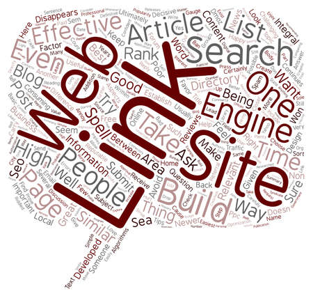 ultimately: How To Build Great Links For Your Web Site text background wordcloud concept