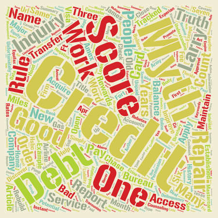 How Credit Works text background wordcloud concept. Illustration