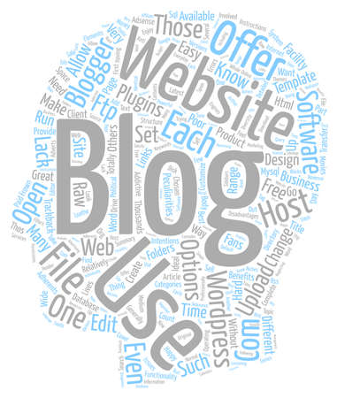 peculiarities: How To Blog From Your Own Website text background wordcloud concept