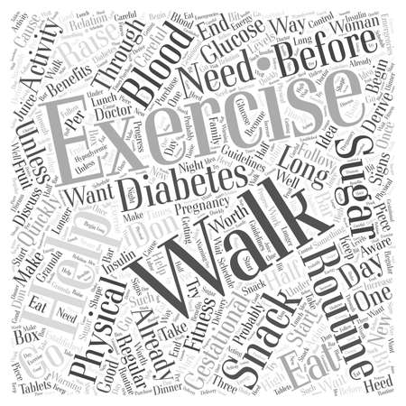 gestational: How Exercising can help with Gestational Diabetes Word Cloud Concept Illustration
