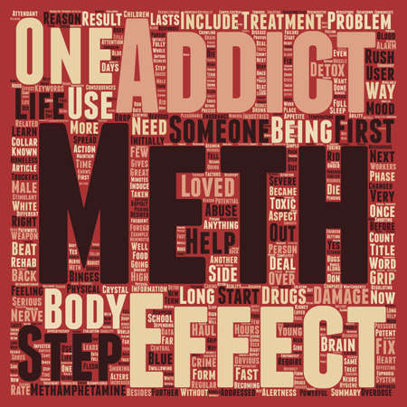 meth: How Does Meth Get a Grip on Someone text pattern wordcloud concept