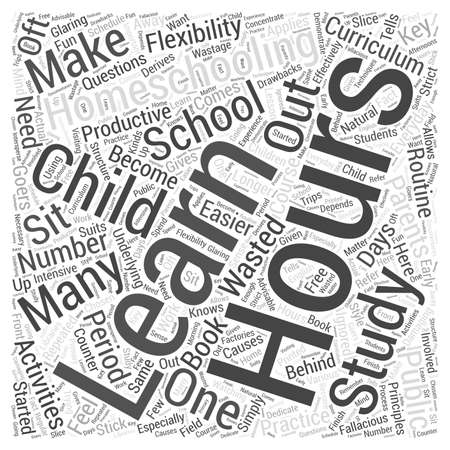 homeschooling: Homeschooling hours dlvl nicheblowercom Word Cloud Concept