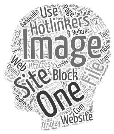 prevalent: How To Block Hotlinkers text background wordcloud concept