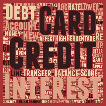 transfers: How Credit Card Balance Transfers Can Affect Your Credit Score text wordcloud concept