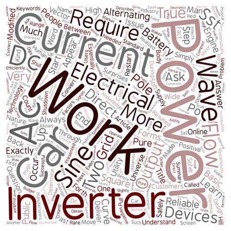 How Does A Power Inverter Work text background wordcloud concept Vektoros illusztráció
