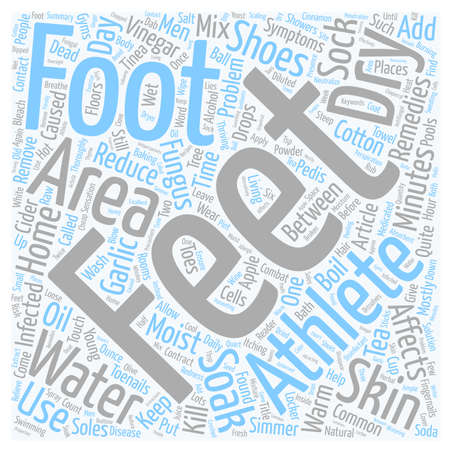 Home Remedies For Athletes Feet text background wordcloud concept