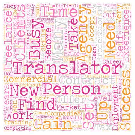 성공적인 프리랜서 번역기 텍스트 패턴 wordcloud 개념이되는 법 일러스트