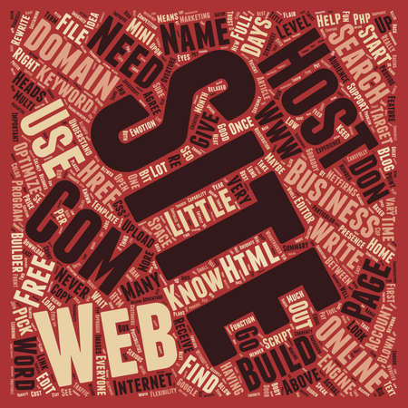 web site: How To Build Your Own Web Site For Your Online Business text background wordcloud concept Illustration