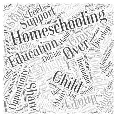 homeschooling: Homeschooling the teenager Word Cloud Concept Illustration