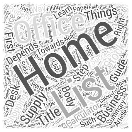 office supply: Home Office Supply Shopping Guide Word Cloud Concept Illustration