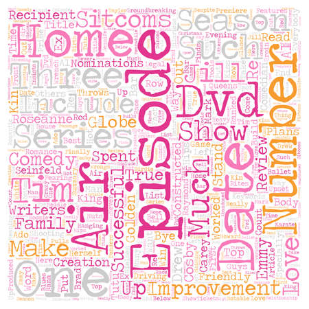 Home Improvement Season 2 DVD Review text background wordcloud concept Ilustração
