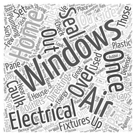 tightness: House Energy LCC Word Cloud Concept Illustration