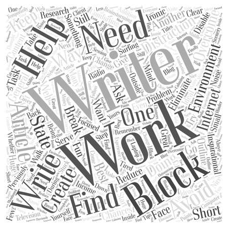 helps: How to Avoid and Overcome Writers Block Word Cloud Concept Illustration