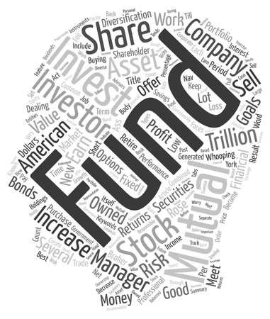 How Mutual Funds Work text background wordcloud concept. Ilustração
