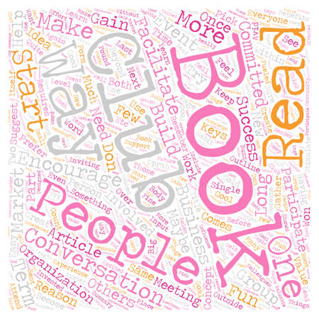 How and Why to Start a Business Book Club text background wordcloud concept 向量圖像