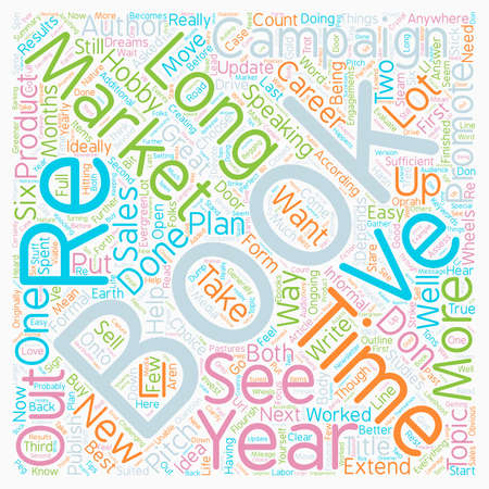 How Long Is Too Long To Market A Book text background wordcloud concept