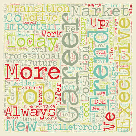 How To Bulletproof Your Career text background wordcloud concept.