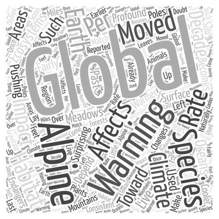 depend: How Global Warming Affects the Ecosystems Word Cloud Concept Illustration
