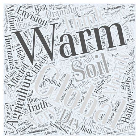 How Agriculture is Affected by Global Warming Word Cloud Concept