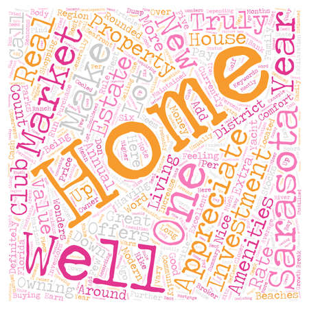 How Marketable Are New Sarasota Homes text background wordcloud concept