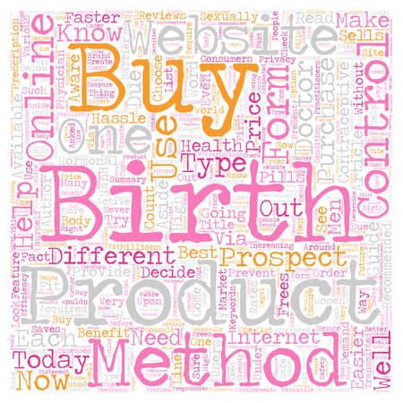 How to Buy Birth Control Online text background wordcloud concept Illustration