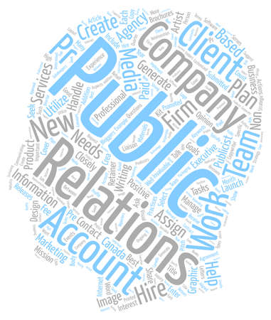 How Do PR Companies Work text background wordcloud concept