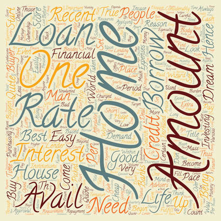 recently: Home Loan text background wordcloud concept