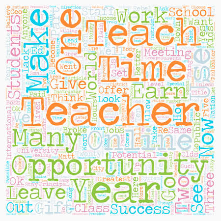 How Teachers Can Earn Money As An Online Instructor text background wordcloud concept