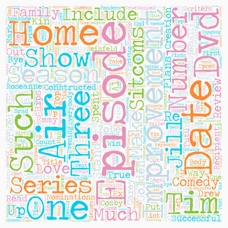 Home Improvement Season DVD Review text background wordcloud concept
