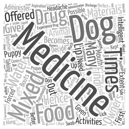 How to administer medicine Word Cloud Concept.