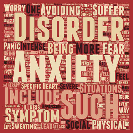 How Is Your Anxiety Today text background wordcloud concept.