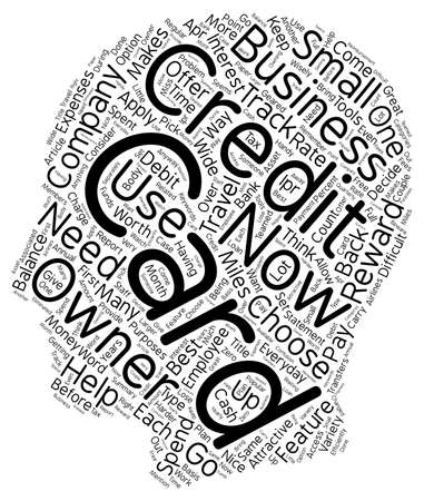 How Business Owners Can Choose A Credit Card text background wordcloud concept.
