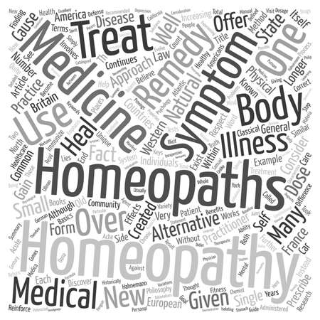 Homeopathie 101 tekst achtergrond wordcloud concept Stockfoto - 73332504