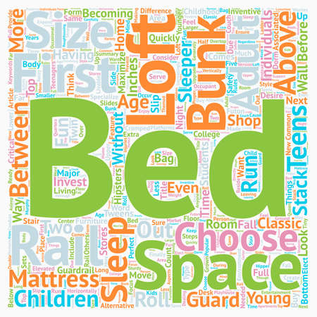 bunk bed: How To Buy A Loft Bed Bunk Bed text background wordcloud concept.