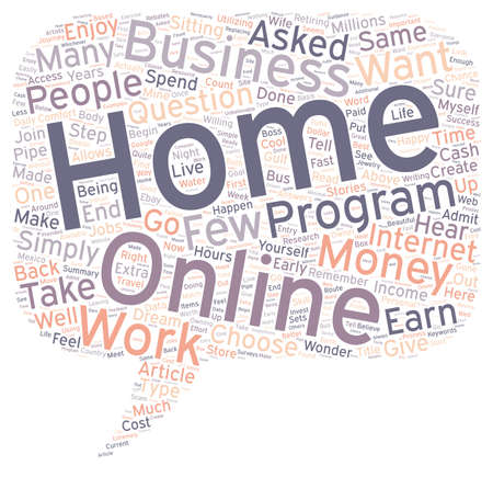 How Can You Earn Money From Home text background wordcloud concept