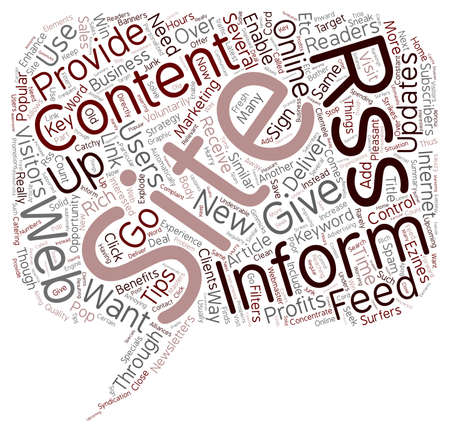 How RSS Can Explode Your Online Profits text background wordcloud concept Illustration