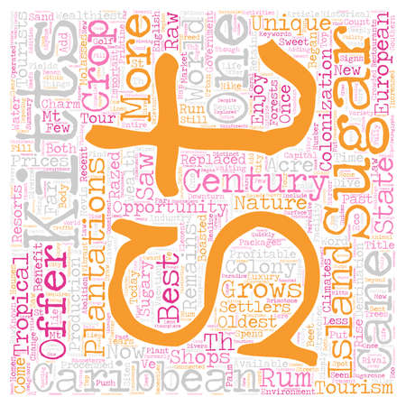 Sugary Sweets text in a wordcloud concept