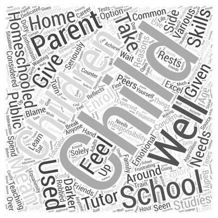 homeschooling: Homeschooling text in a Word Cloud Concept