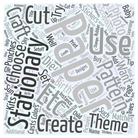 harmonize: How to Choose Craft Stationary Paper Word Cloud Concept Illustration